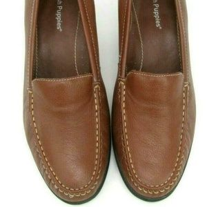 Hush Puppies Madison Leather Loafers Size 6 EW